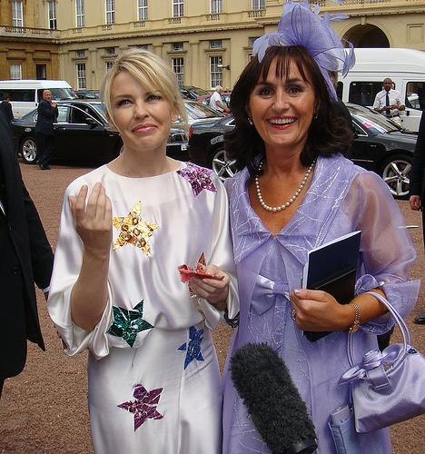 Therese Receives Her MBE and Meets Kylie Minogue